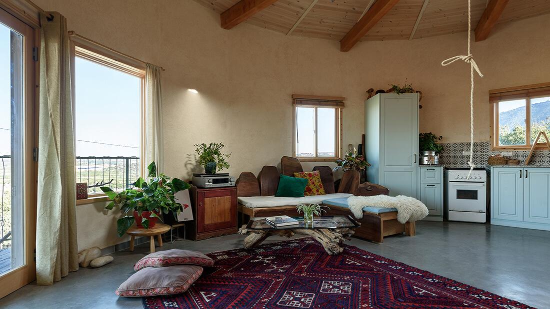 סלון עגול, בית מונגולי, בקתה מונגולי