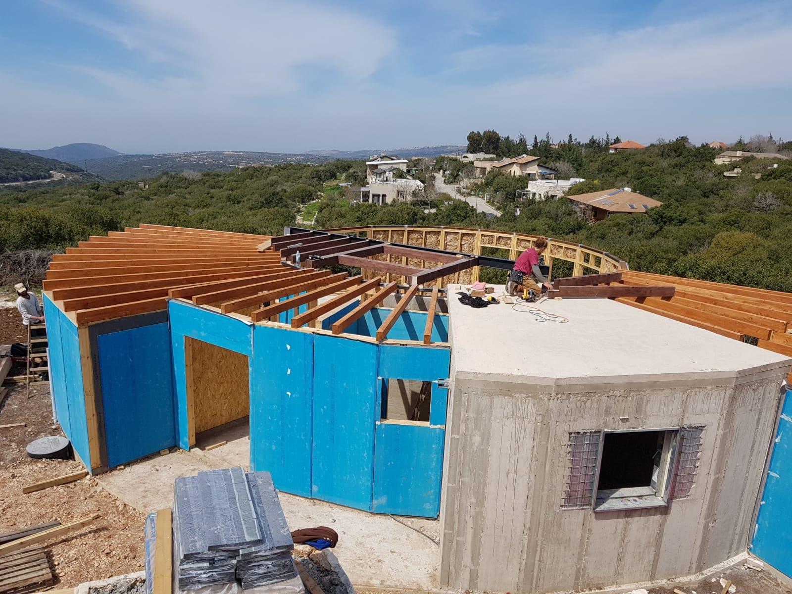 אתר בניין נקי, בנייה קלה עגולה של בקתה מונגוליתל בקתה מונ